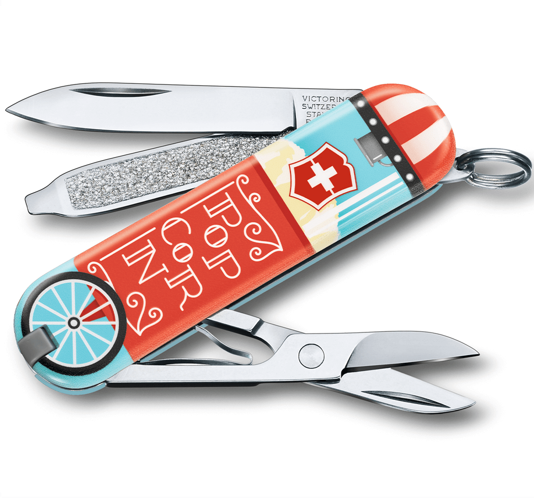 "Нож-брелок Victorinox Classic Limited Edition ""Let It Pop!"" 0.6223.L1910"